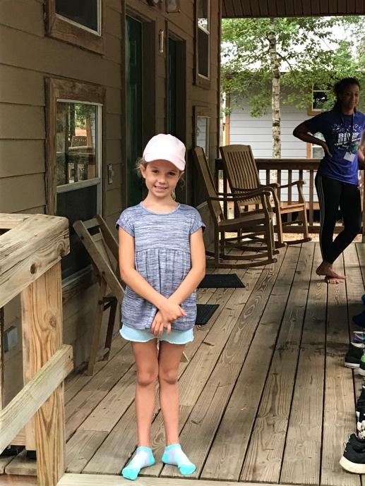 Clara at Camp